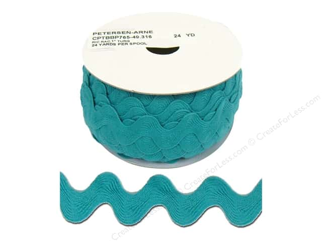 Ric Rac by Cheep Trims  1 in. Turquoise (24 yards)