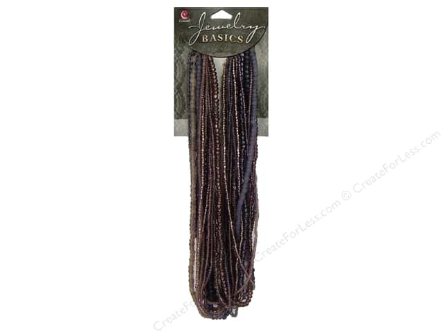 Cousin Basics Bead Glass Seed Mix Purple 3.18oz