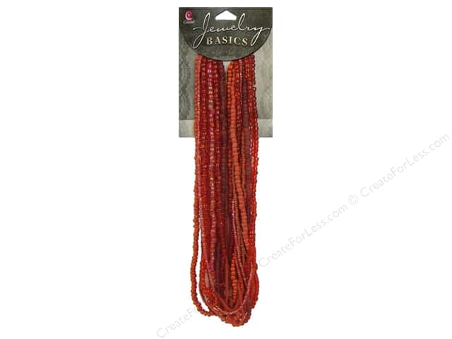 Cousin Bead Glass Seed Mix Red 3.18oz