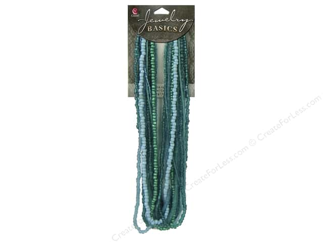 Cousin Bead Glass Seed Mix Teal 3.18oz