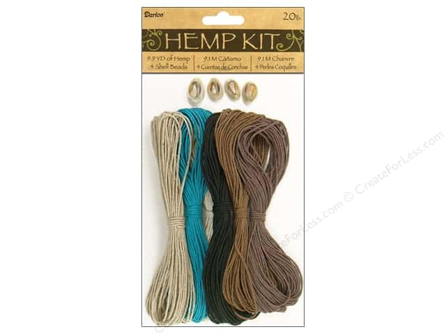 Darice Cord Hemp Shell Kit 20lb Neutral