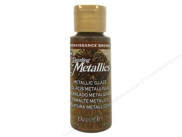 DecoArt Dazzling Metallics Paint 2oz Renaissance Brown