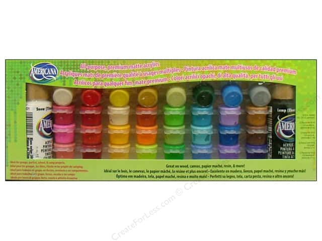 DecoArt Paint Pot Americana 34 Assorted Value Pack