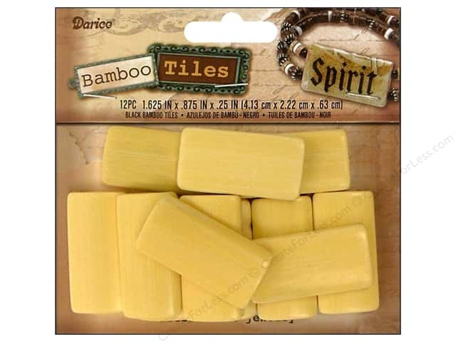 "Darice Beads Bamboo Tiles 1 5/8x7/8"" Blonde 12pc"