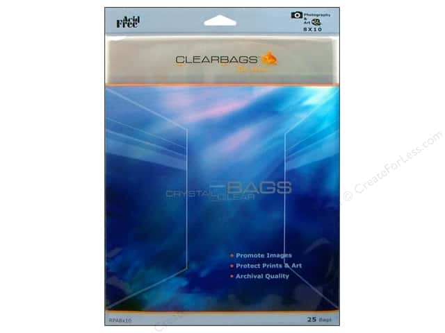"ClearBags Crystal Clear Bag 8""x 10"" Photo 25pc"