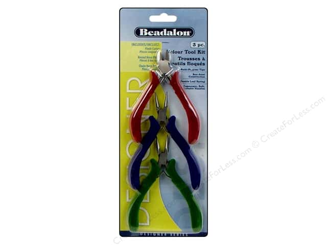 Beadalon Tools Kit Velour Handle 3pc