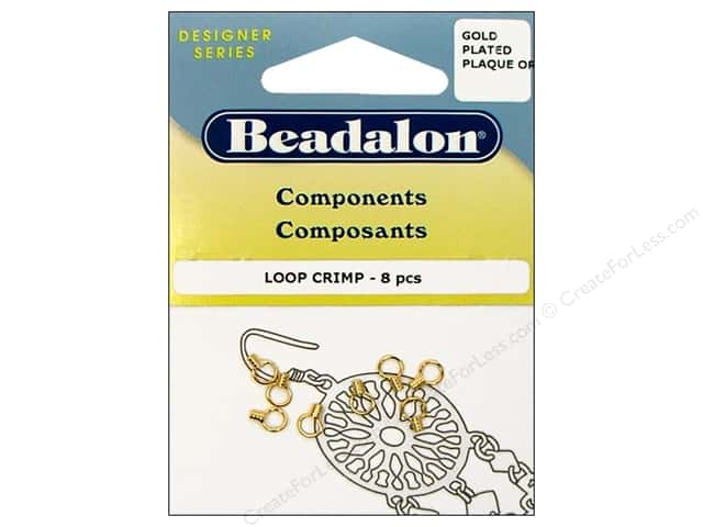 "Beadalon Crimp Loop .029"" Gold Plated 8pc"