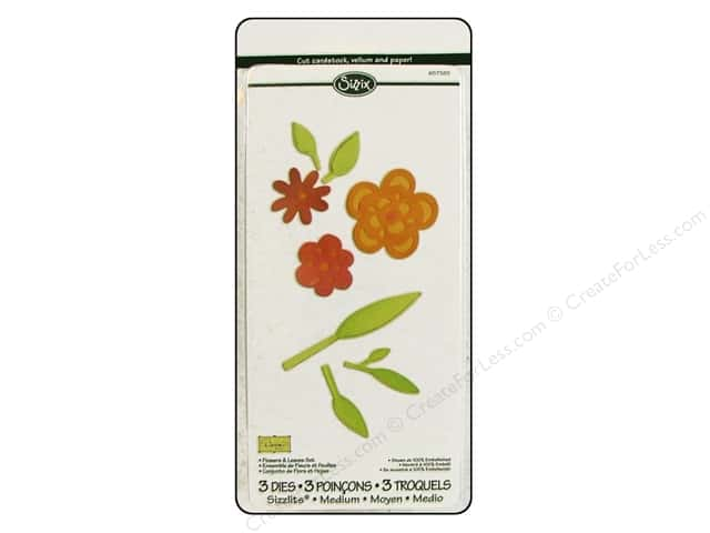 Sizzix Dies Dena Designs Sizzlits Flowers & Leaves