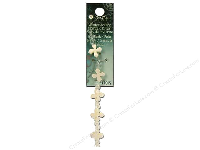 Blue Moon Beads Winter Soiree Shell Beads 3/8 in. Cross 10pc. Natural