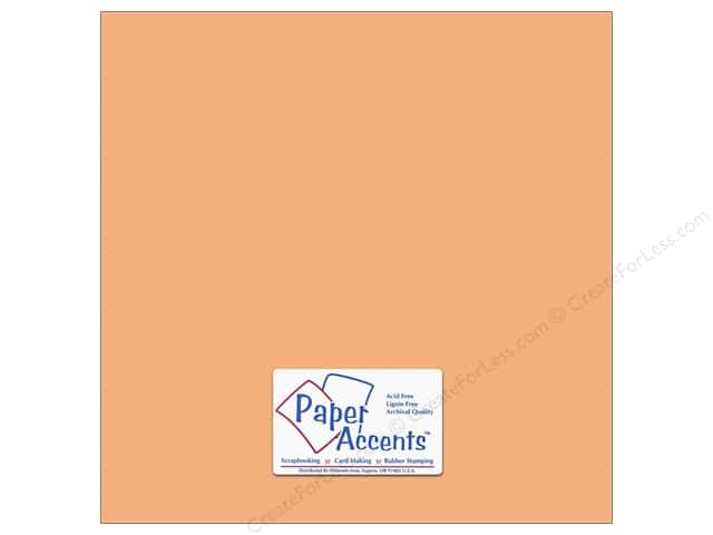 Cardstock 12 x 12 in. #18009 Smooth Peach Glow by Paper Accents (25 sheets)