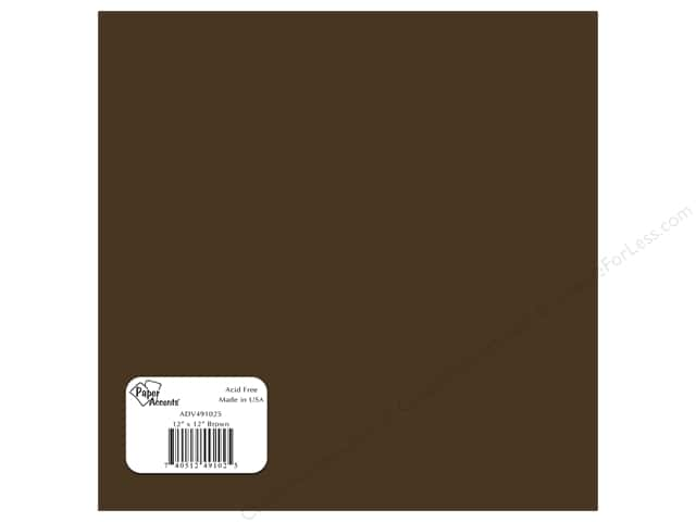 "Paper Accents Adhesive Vinyl 12""x 12"" Removable Brown (12 sheets)"