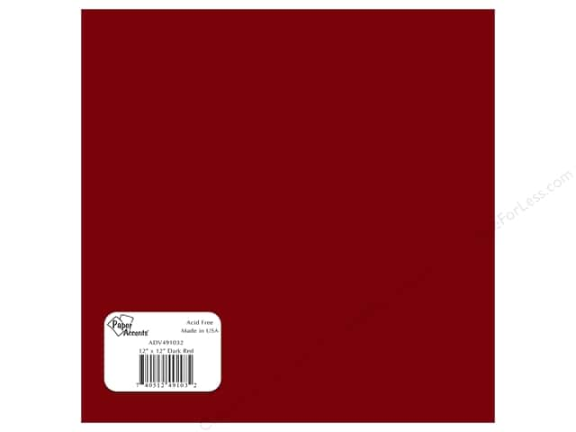 "Paper Accents Adhesive Vinyl 12""x 12"" Removable Dark Red (12 sheets)"