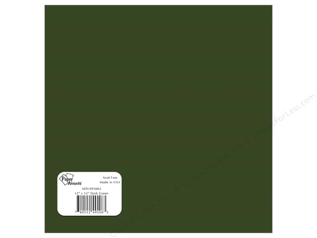 "Paper Accents Adhesive Vinyl 12""x 12"" Removable Dark Green (12 sheets)"