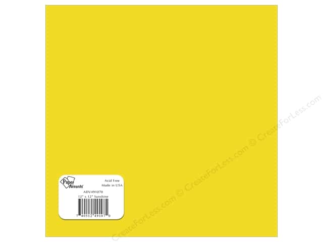 Paper Accents Adhesive Vinyl 12 x 12 in. Removable Sunshine (12 sheets)