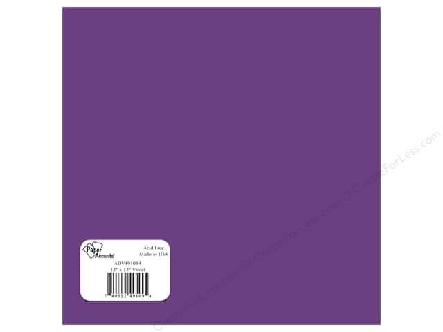 Paper Accents Adhesive Vinyl 12 x 12 in. Removable Violet (12 sheets)