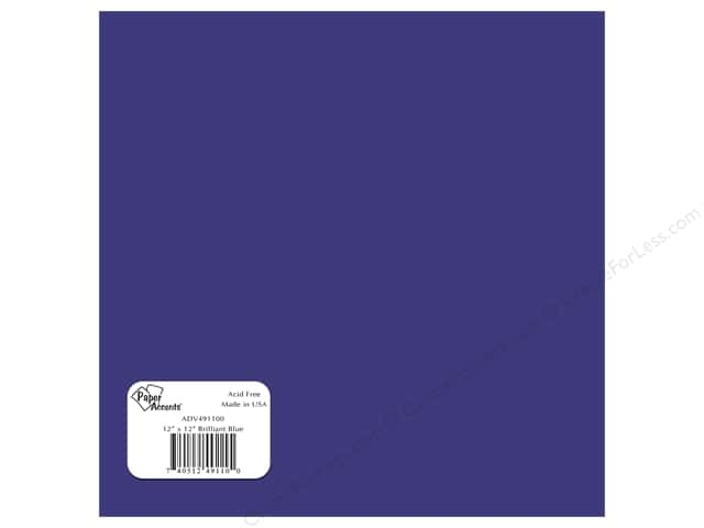 Paper Accents Adhesive Vinyl 12 x 12 in. Removable Brilliant Blue (12 sheets)