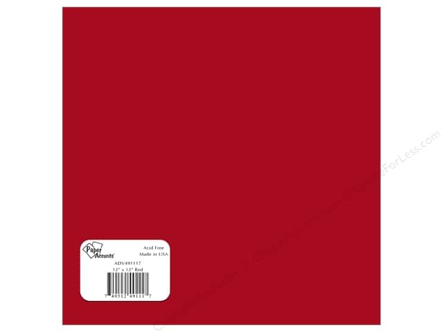 "Paper Accents Adhesive Vinyl 12""x 12"" Removable Red (12 sheets)"