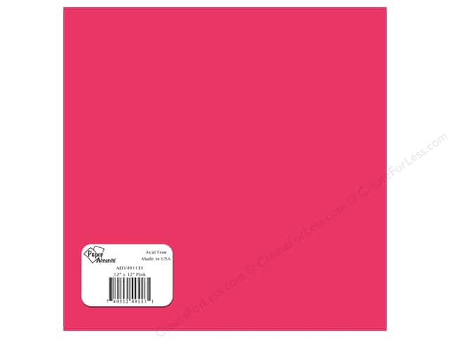 "Paper Accents Adhesive Vinyl 12""x 12"" Removable Pink (12 sheets)"