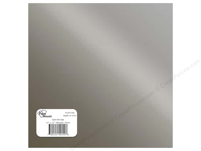Paper Accents Adhesive Vinyl 12 x 12 in. Removable Metallic Silver (12 sheets)