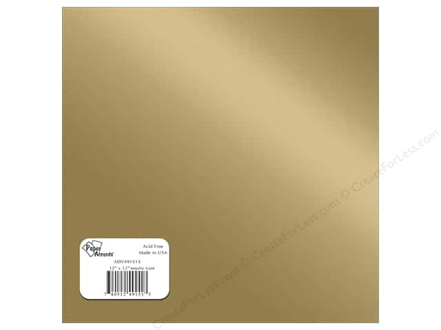 Paper Accents Adhesive Vinyl 12 x 12 in. Removable Metallic Gold (12 sheets)