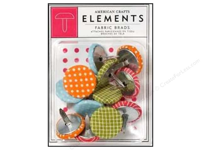 American Crafts Elements Brads Fabric Daydreams