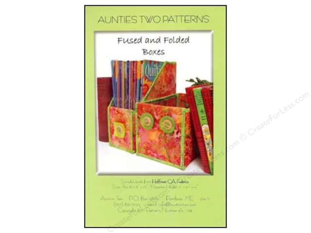 Aunties Two Fused And Folded Boxes Pattern