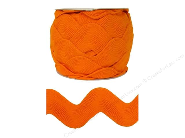 Mega Ric Rac by Cheep Trims  2 1/4 in. Orange (18 yards) (18 yards)