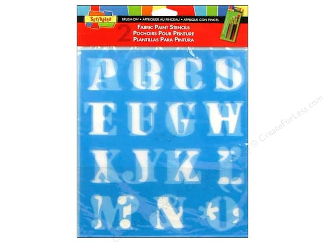 Scribbles Fabric Paint Accessories Stencils Letters 1