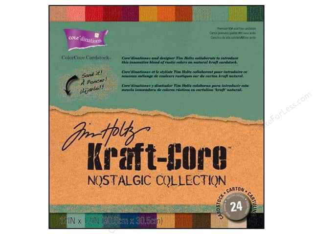 "Coredinations Cardstock Pack 12""x 12"" Tim Holtz Kraft-Core Nostalgic"