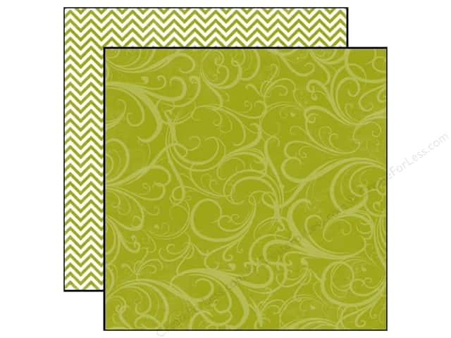 Echo Park 12 x 12 in. Paper Style Essentials Runway Green Flourish (25 sheets)