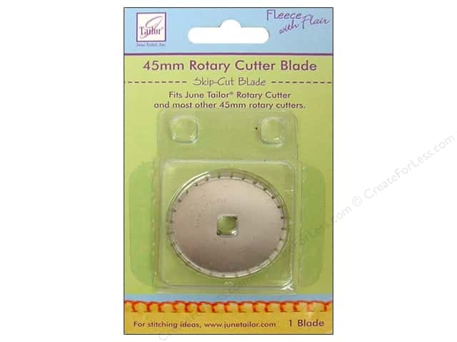 June Tailor Rotary Cutter 45mm Blade Fleece Skip