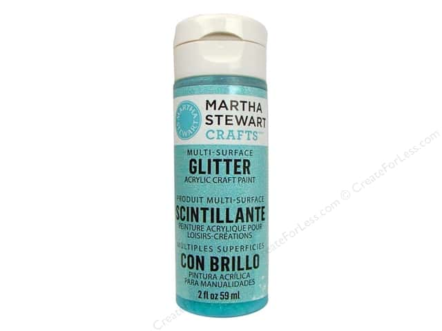 Martha Stewart Craft Paint by Plaid Glitter Blueberry Slush 2 oz.