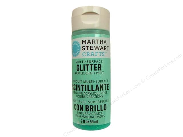 Martha Stewart Craft Paint by Plaid Glitter Wintermint 2oz