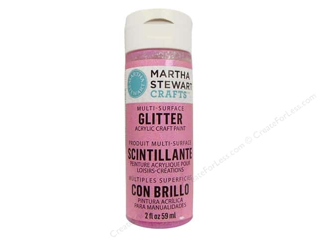 Martha Stewart Craft Paint by Plaid Glitter Bubble Gum 2 oz.