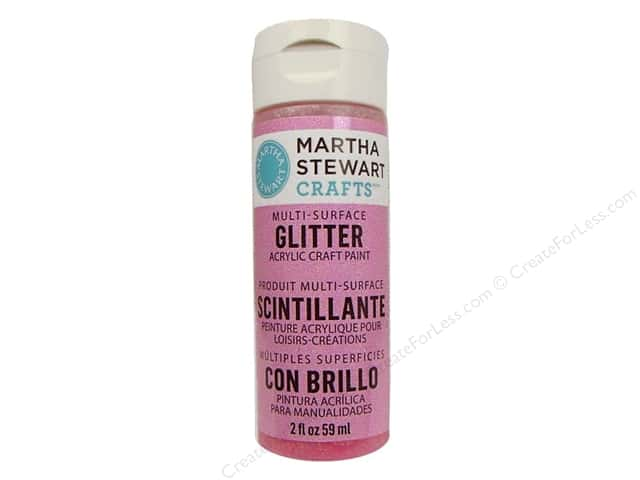 Martha Stewart Craft Paint by Plaid Glitter Cotton Candy 2 oz.