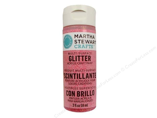 Martha Stewart Craft Paint by Plaid Glitter Candy Apple 2 oz.