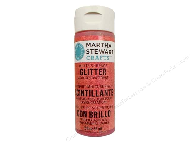 Martha Stewart Craft Paint by Plaid Glitter Cherry Cola 2oz