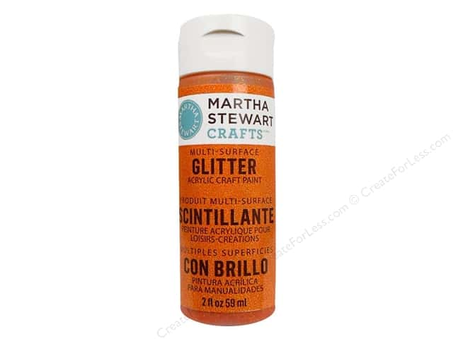 Martha Stewart Craft Paint by Plaid Glitter Orange Sorbet 2oz