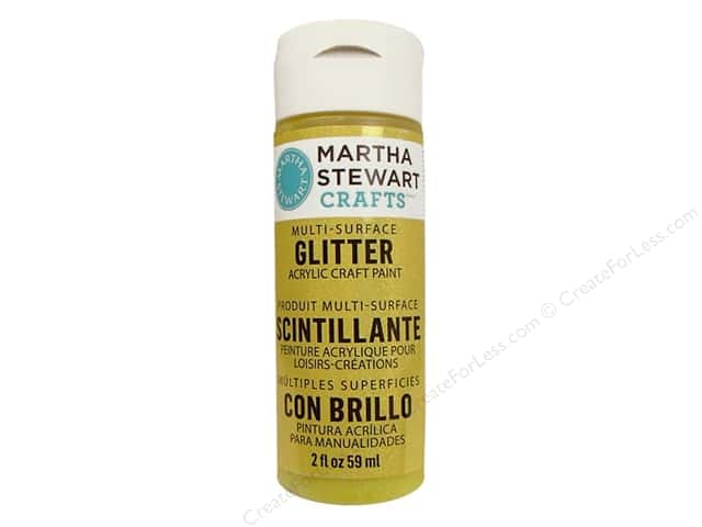 Martha Stewart Craft Paint by Plaid Glitter Lemon Drop 2 oz.