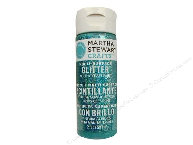 Martha Stewart Craft Paint by Plaid Glitter Turquoise 2oz
