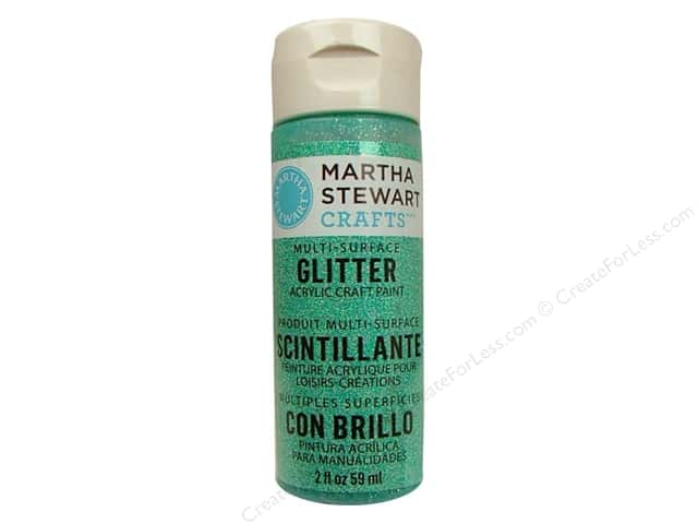 Martha Stewart Craft Paint by Plaid Glitter Feldspar 2oz