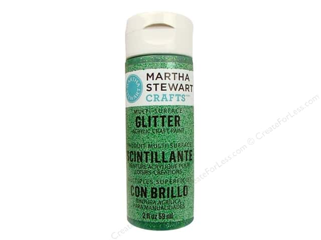 Martha Stewart Craft Paint by Plaid Glitter Verdelite 2oz