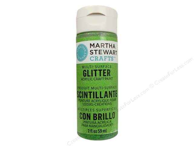 Martha Stewart Craft Paint by Plaid Glitter Peridot 2 oz.