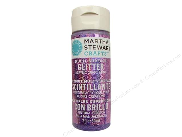 Martha Stewart Craft Paint by Plaid Glitter Charoite 2oz