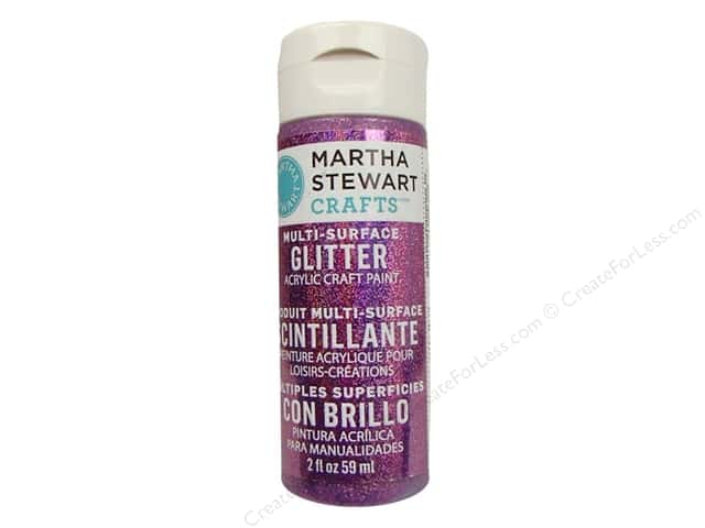 Martha Stewart Craft Paint by Plaid Glitter Amethyst 2oz