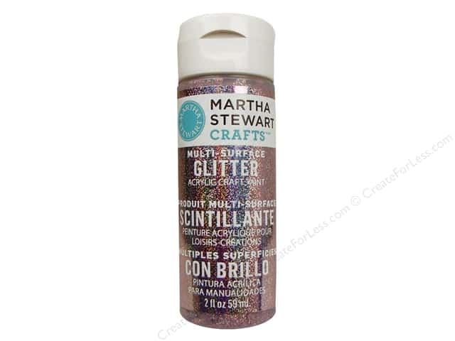 Martha Stewart Craft Paint by Plaid Glitter Kunzite 2 oz.