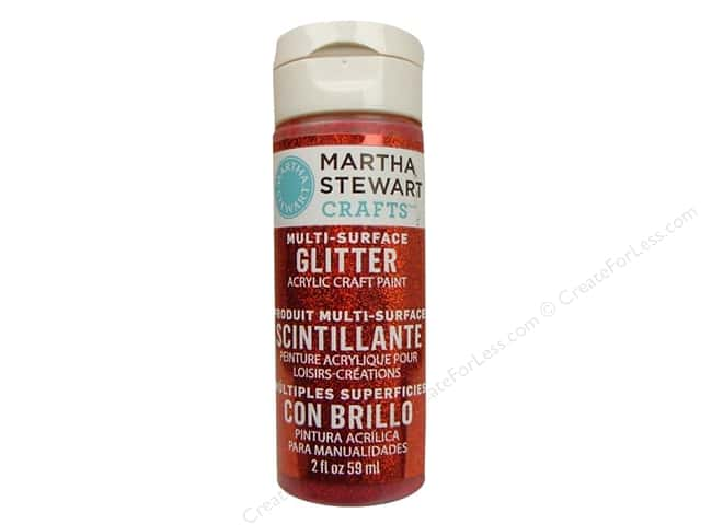 Martha Stewart Craft Paint by Plaid Glitter Garnet 2oz