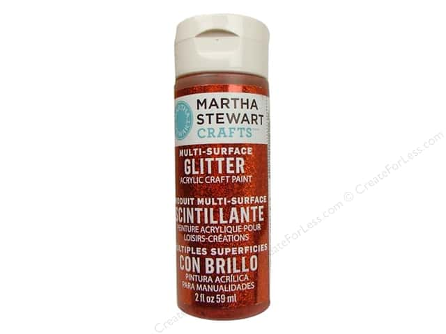 Martha Stewart Craft Paint by Plaid Glitter Carnelian 2oz