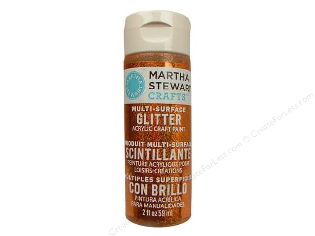 Martha Stewart Craft Paint by Plaid Glitter Fire Opal 2 oz.