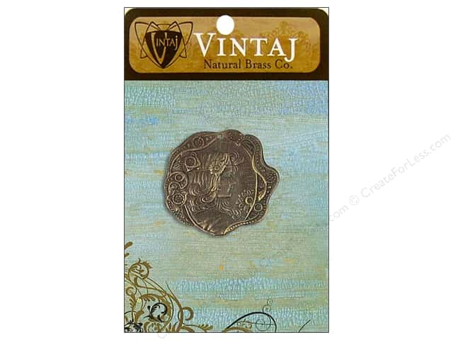 Vintaj Charm Daisy Maiden Natural Brass